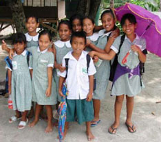 Primary school children on South Tarawa