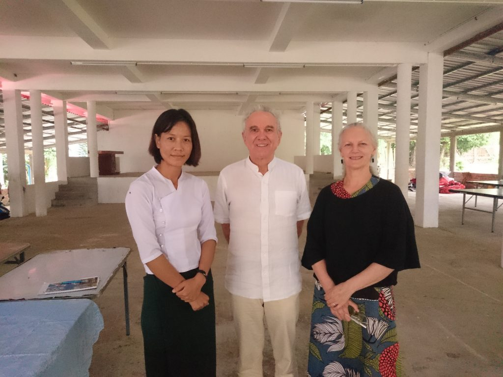 Elizabeth, Roger & Christine meeting with teachers in Myeik.