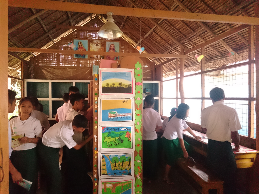 St Albert's school library in Myeik