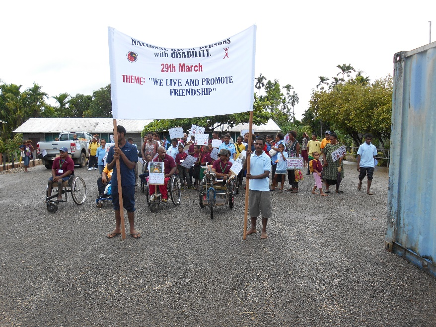 Disability activists in Kiunga, Papua New Guinea