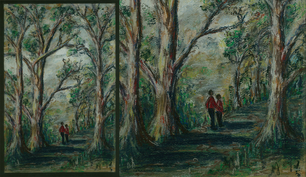 Walk in the Grampians painting