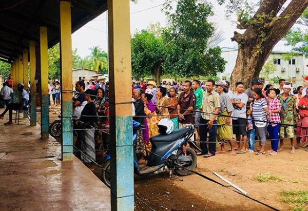 A voting station in Maliana during the 2018 Timor-Leste elections